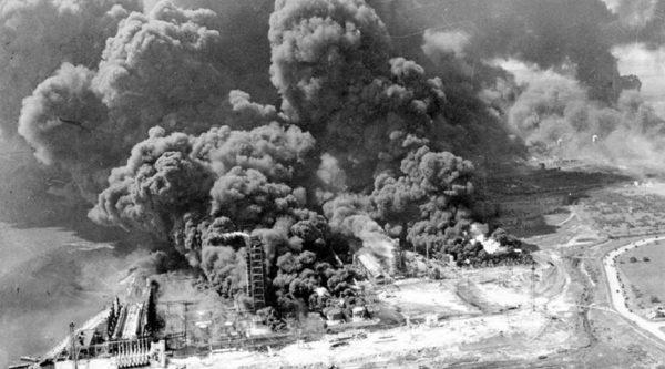 В ходе бомбардировок заводы были разрушены