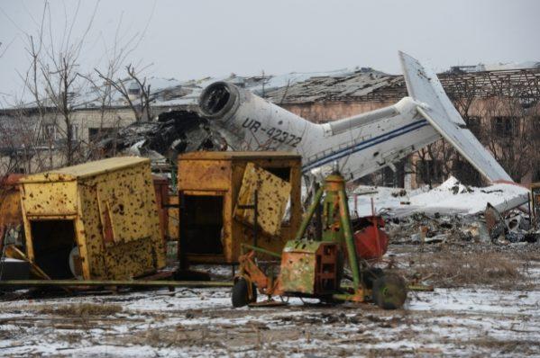 разрушенный аэропорт Донецк