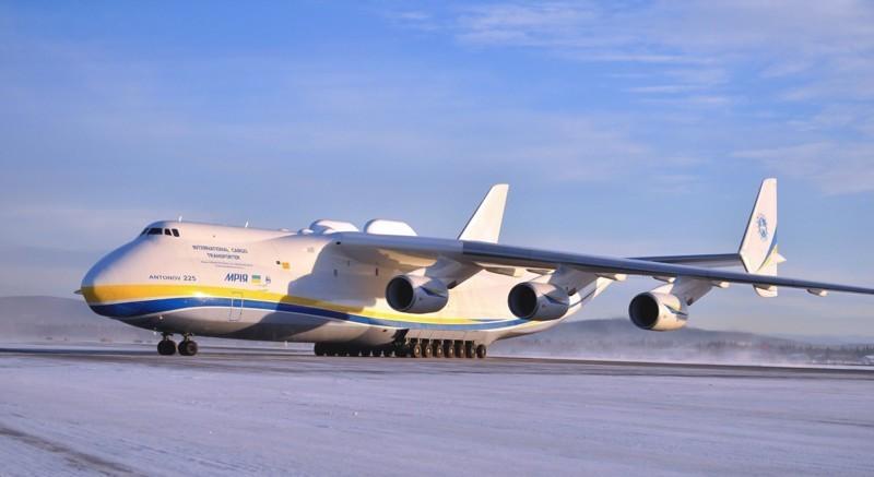 Стратегический военно-транспортный самолет Ан-225 Мрия