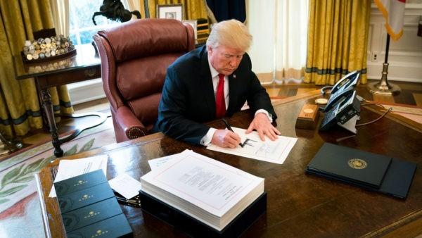 Документ был подписан в Белом доме