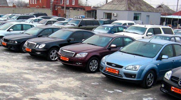 машины, выставленные на продажу